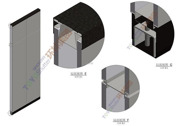 技术参数: 隔断厚度 80mm 隔断中空间隙 54mm,便于布线 龙骨结构